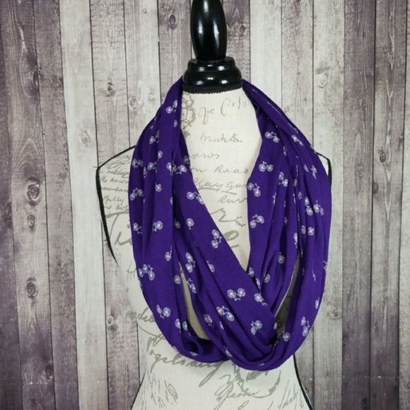 BICYCLE print iNFINITY Scarf Lot of 4